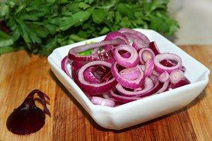 как замариновать лук красный для салата