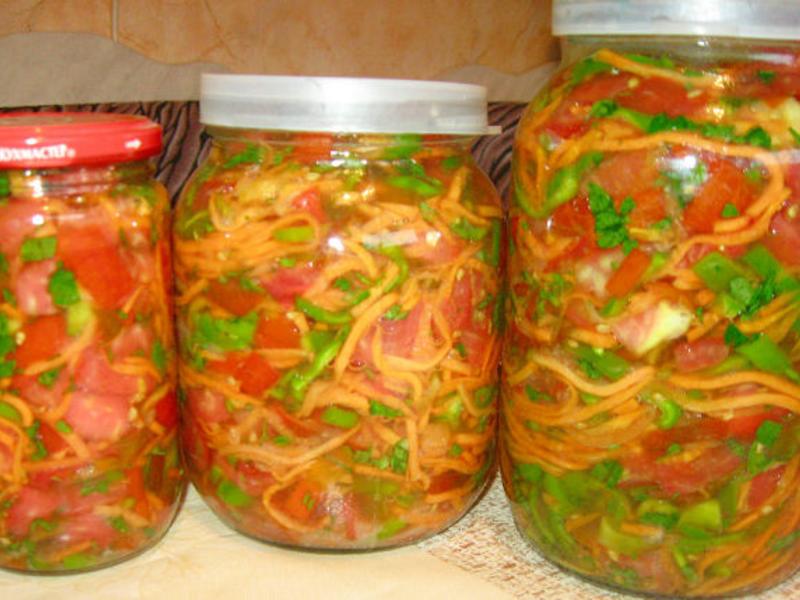 как приготовить салат из овощей и капусты на зиму
