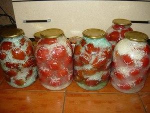 заготовка на зиму рецепты помидоры