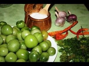Солёные зелёные помидоры - готовим дома
