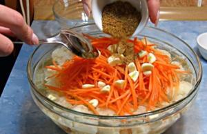 Рецепт маринования на зиму цветной капусты по корейски