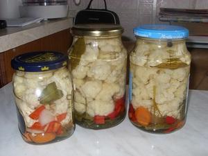Рецепт для приготовления квашенной цветной капусты на зиму