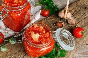 Рецепт салата на зиму из цветной капусты в томате