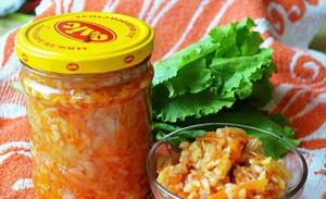 Салат с гречкой и овощами на зиму