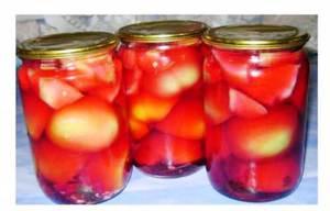 Зеленые помидоры с яблоками - особенности заготовки