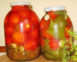 Квашеные помидоры с хреном на зиму