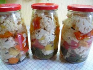 Маринуем капусту  на зиму - пошаговый рецепт