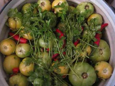 Рецепты приготовления соленых зеленых помидор на зиму