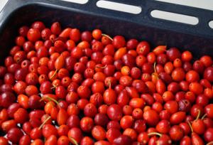 Обработка и мытье шиповника - заготовки витаминных ягод