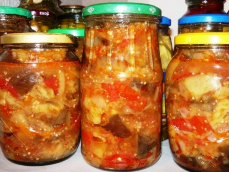 Кабачки баклажаны на зиму рецепты с фото