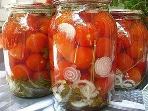 Консервация помидоров в желатине