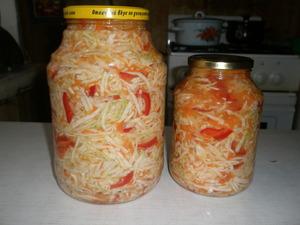 Рецепт капуста с болгарским перцем на зиму