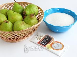 Продукты для заготовки груш в сиропе  крупно
