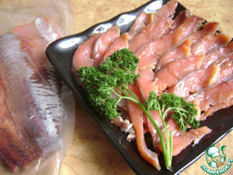 Рецепт соленой горбуши