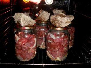 тушенка в банках в духовке из свинины