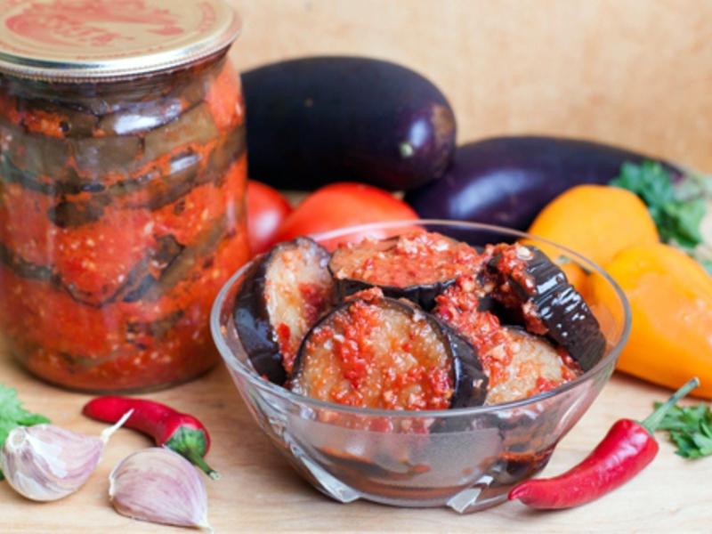 баклажаны с грибами салат на зиму рецепты