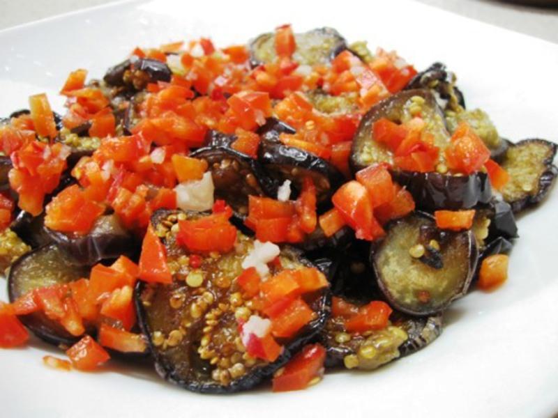 Салат огонек из баклажанов рецепт с