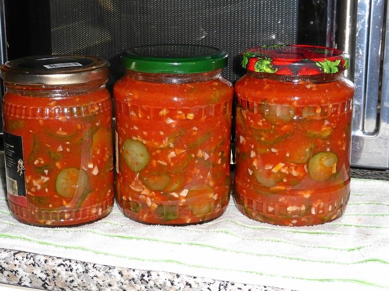 Рецепт салаты в томате на зиму