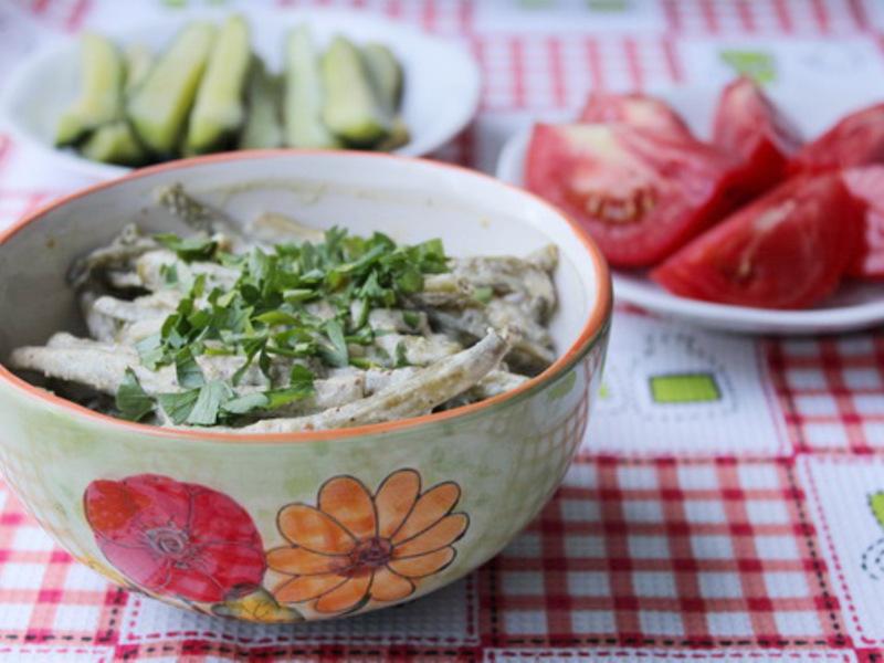 Салат из фасоли стручковой на зиму рецепт с очень вкусный
