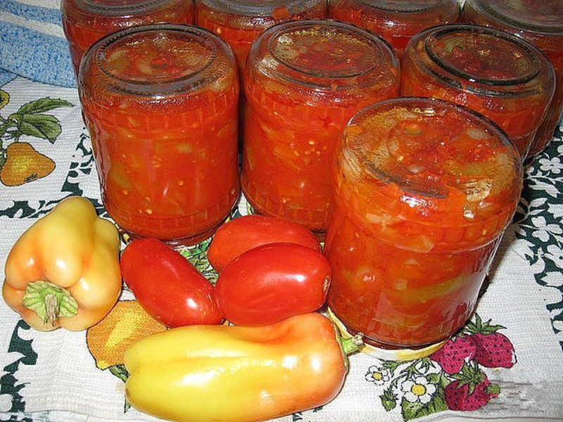 Салат из болгарского перца и лука на зиму рецепты с