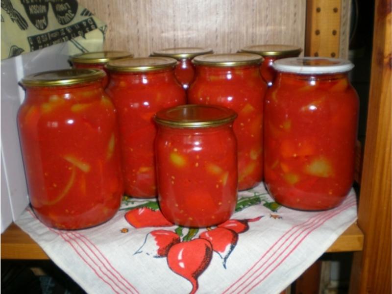 Лечо из перца и помидоров рецепты