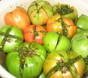 Приготовление помидоров